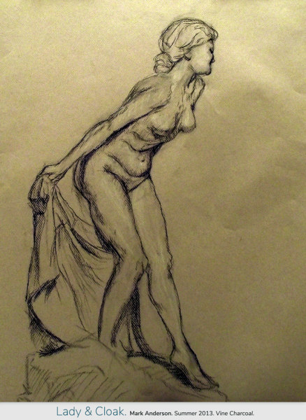 Nude Woman and Cloak